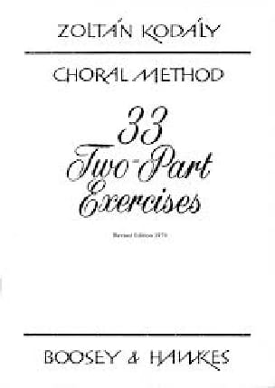 33 2-Part Exercices - KODALY - Livre - Chœur - laflutedepan.com