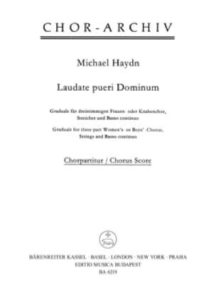 Laudate Pueri Dominum. Choeur seul - Michael HAYDN - laflutedepan.com