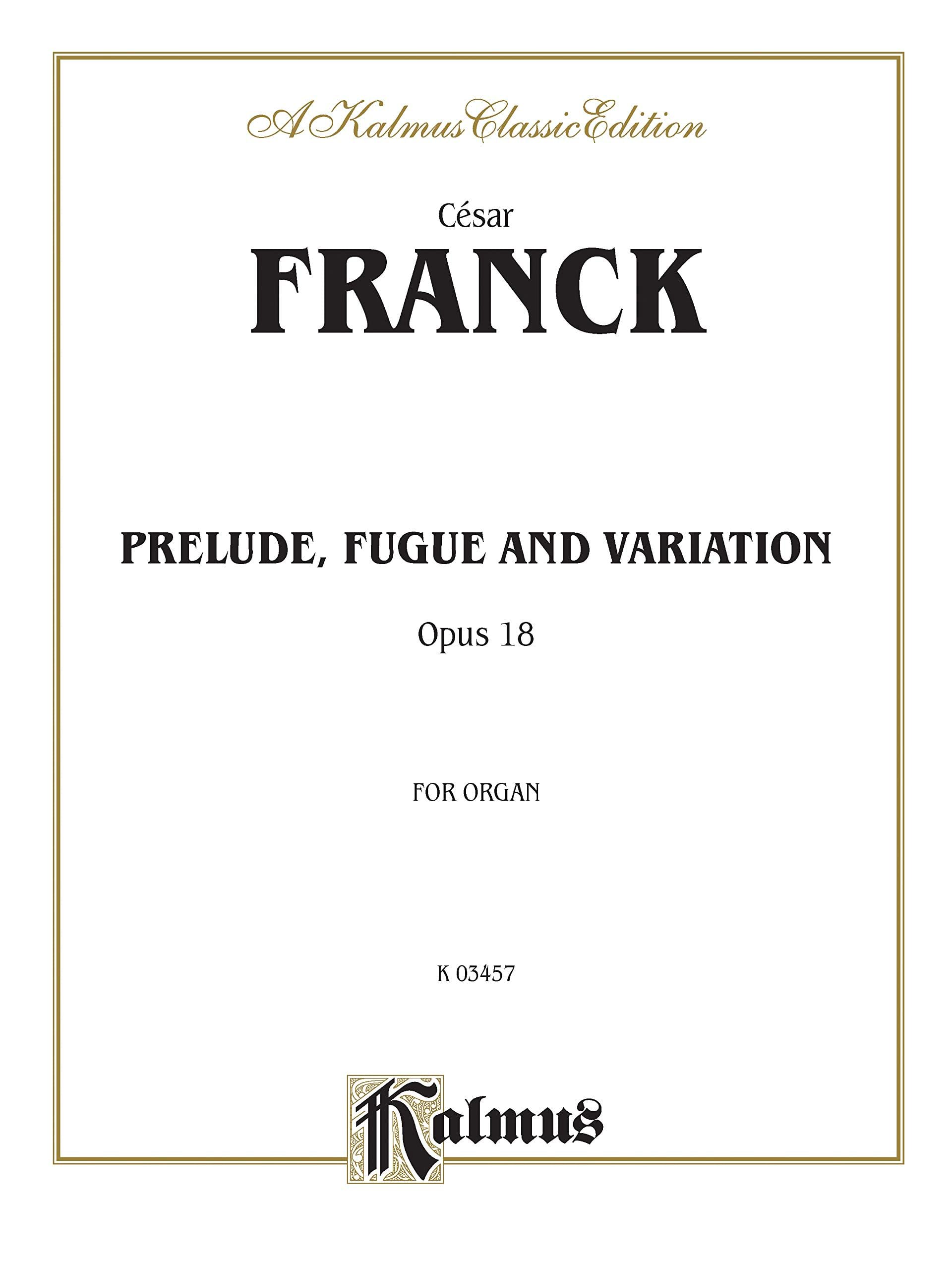 César Franck - Prelude, Fugue and Variation Opus 18 - Partition - di-arezzo.co.uk