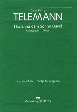 TELEMANN - Hosianna Dem Sohne David Twv 1-809 - Partition - di-arezzo.co.uk