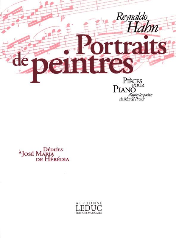 Portraits de Peintres - Reynaldo Hahn - Partition - laflutedepan.com