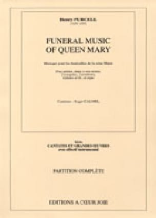 Funeral Music Of Queen Mary. Choeur seul - PURCELL - laflutedepan.com