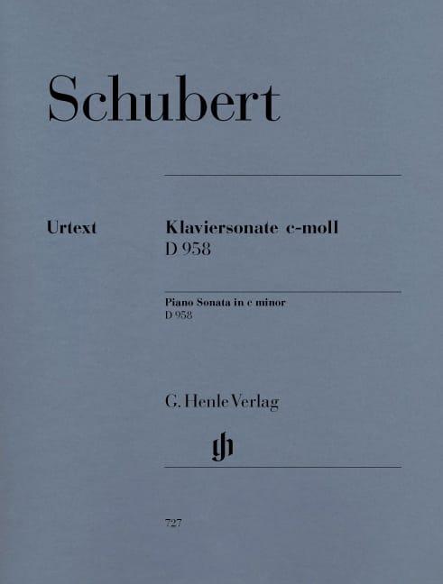 Sonate pour piano en ut mineur D958 - SCHUBERT - laflutedepan.com