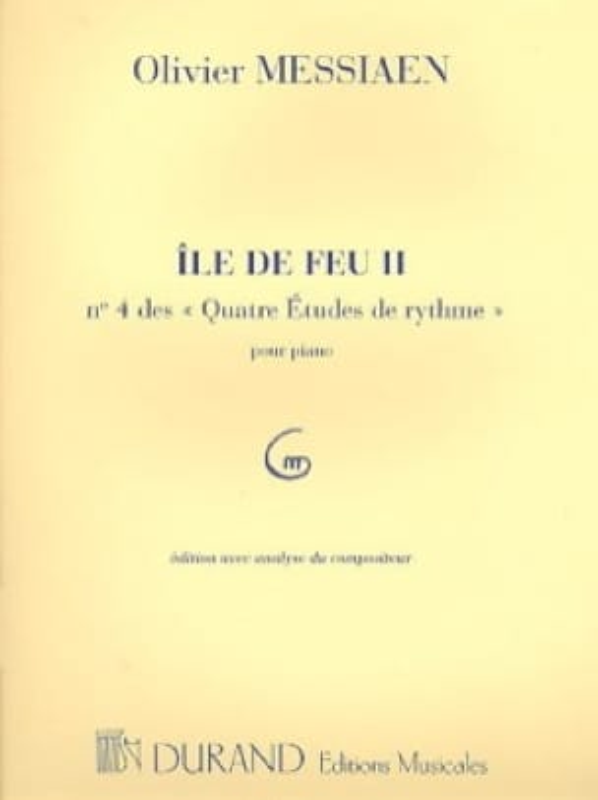 Ile de Feu 2 - MESSIAEN - Partition - Piano - laflutedepan.com