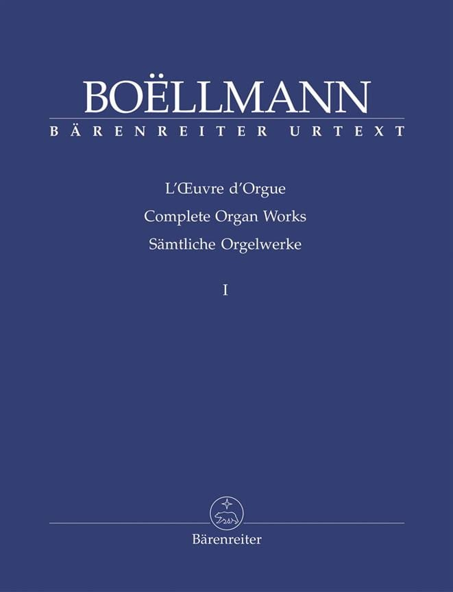 Léon Boëllmann - Organ Work Volume 1 - Partition - di-arezzo.com