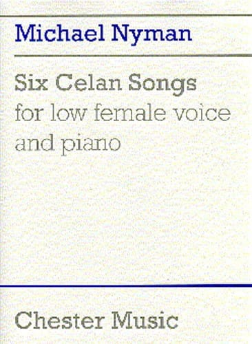 6 Celan Songs - Nyman - Partition - Mélodies - laflutedepan.com