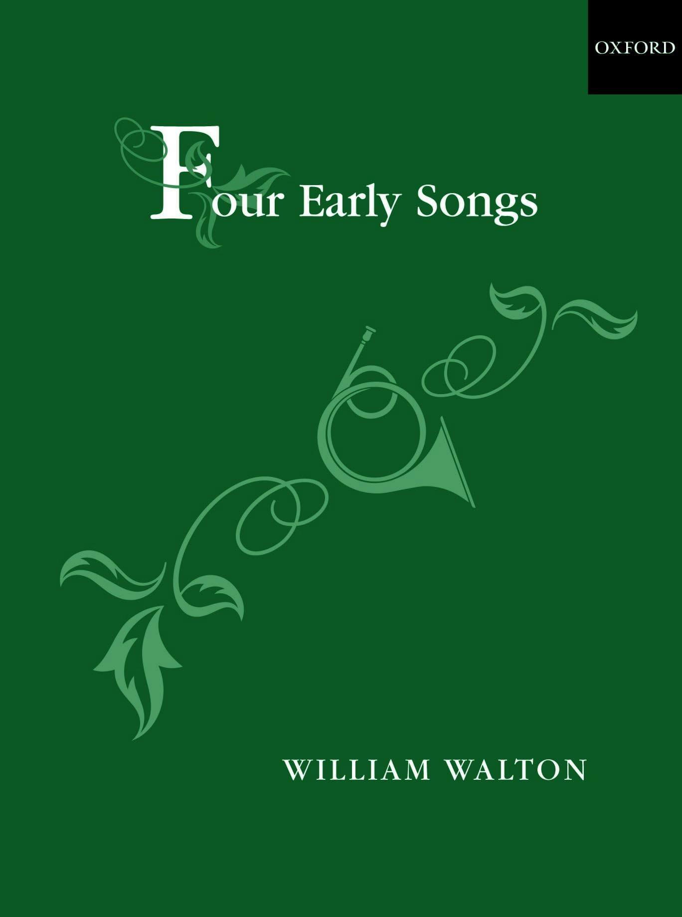 4 Early Songs - William Walton - Partition - laflutedepan.com