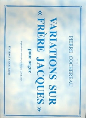 Pierre Cochereau - Variations on Brother Jacques - Partition - di-arezzo.co.uk