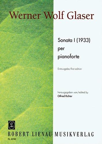 Sonate 1 1933 - Glaser - Partition - Piano - laflutedepan.com