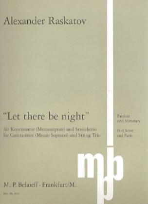 Let There Be Night - Alexander Raskatov - Partition - laflutedepan.com
