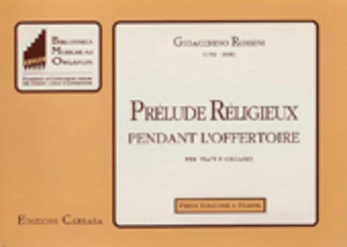 Prélude Religieux Pendant L'offertoire - ROSSINI - laflutedepan.com