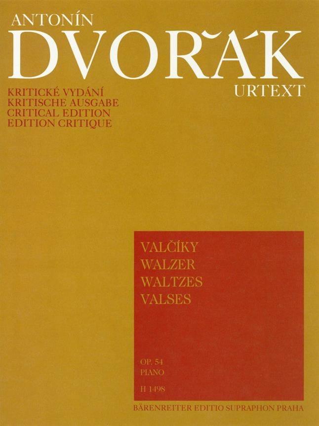 Valses Opus 54 - DVORAK - Partition - Piano - laflutedepan.com