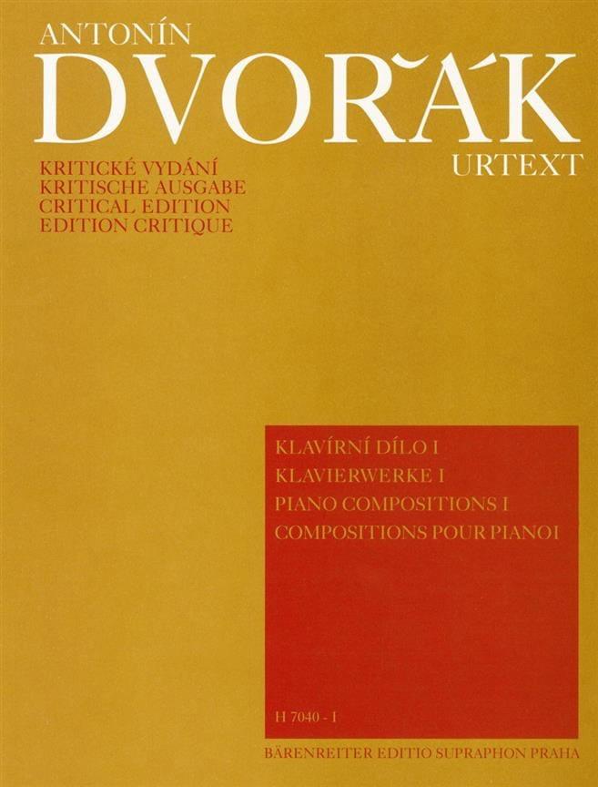 DVORAK - Piano Compositions Volume 1 - Partition - di-arezzo.co.uk