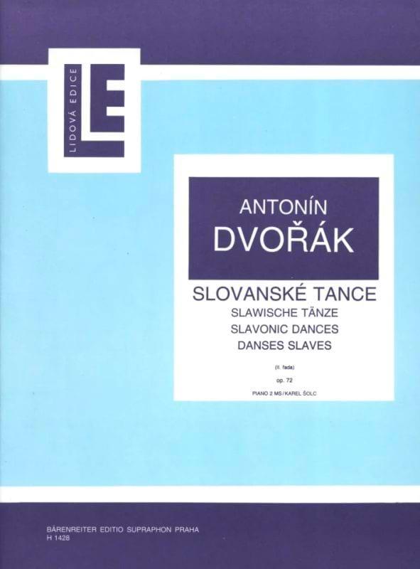 Danses Slaves Opus 72 - DVORAK - Partition - Piano - laflutedepan.com