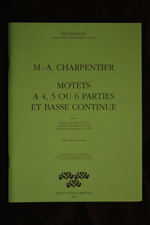 Motets A 4, 5 Ou 6 Parties et Continuo Volume 1 - laflutedepan.com