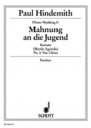 Mahnung An Die Jungen - HINDEMITH - Partition - laflutedepan.com
