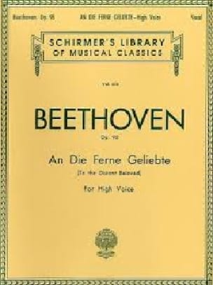 BEETHOVEN - An Die Ferne Geliebte Opus 98 - Partition - di-arezzo.co.uk