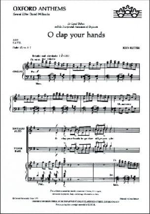 O Clap Your Hands - RUTTER - Partition - Chœur - laflutedepan.com