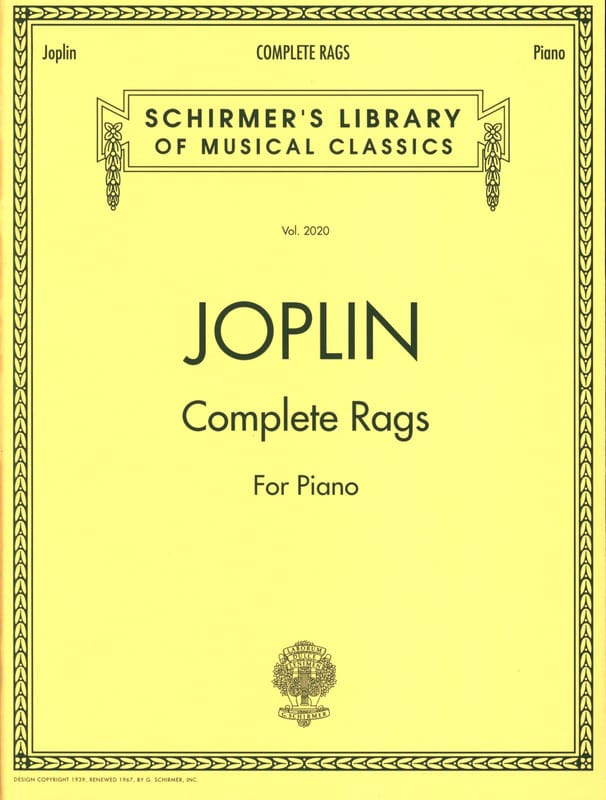 Scott Joplin - Complete Rags - Partition - di-arezzo.co.uk