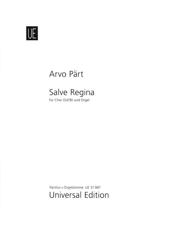 Salve Regina - PÄRT - Partition - Chœur - laflutedepan.com