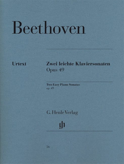 BEETHOVEN - Sonatas Opus 49-1 and 49-2 - Partition - di-arezzo.co.uk
