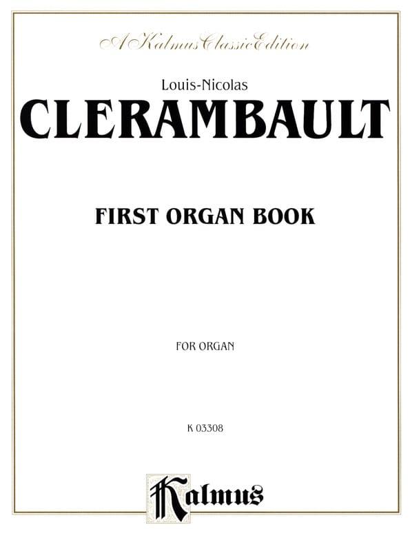 Louis-Nicolas Clérambault - Primer libro de órgano - Partition - di-arezzo.es