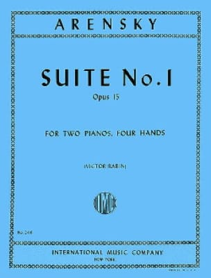 Anton Arensky - Suite N ° 1 Opus 15. 2 Pianos - Partition - di-arezzo.co.uk