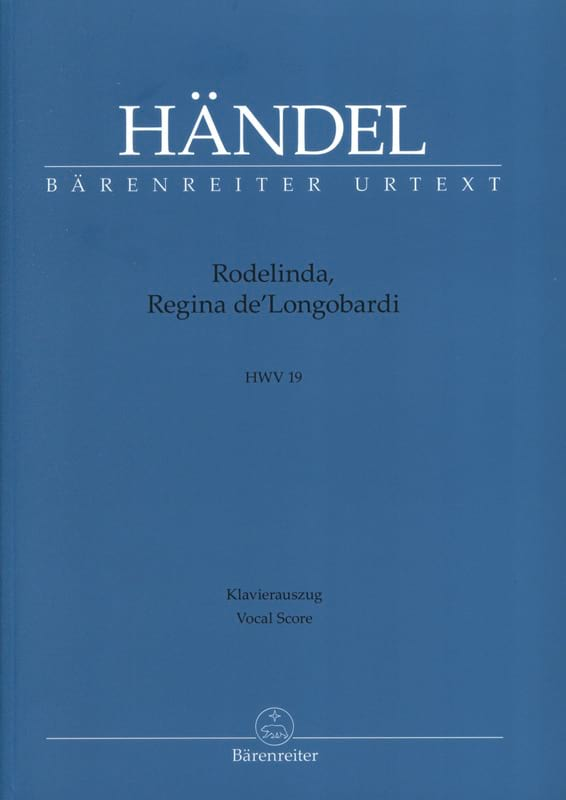 HAENDEL - Rodelinda, Regina From Longobardi. HWV 19 - Partition - di-arezzo.co.uk