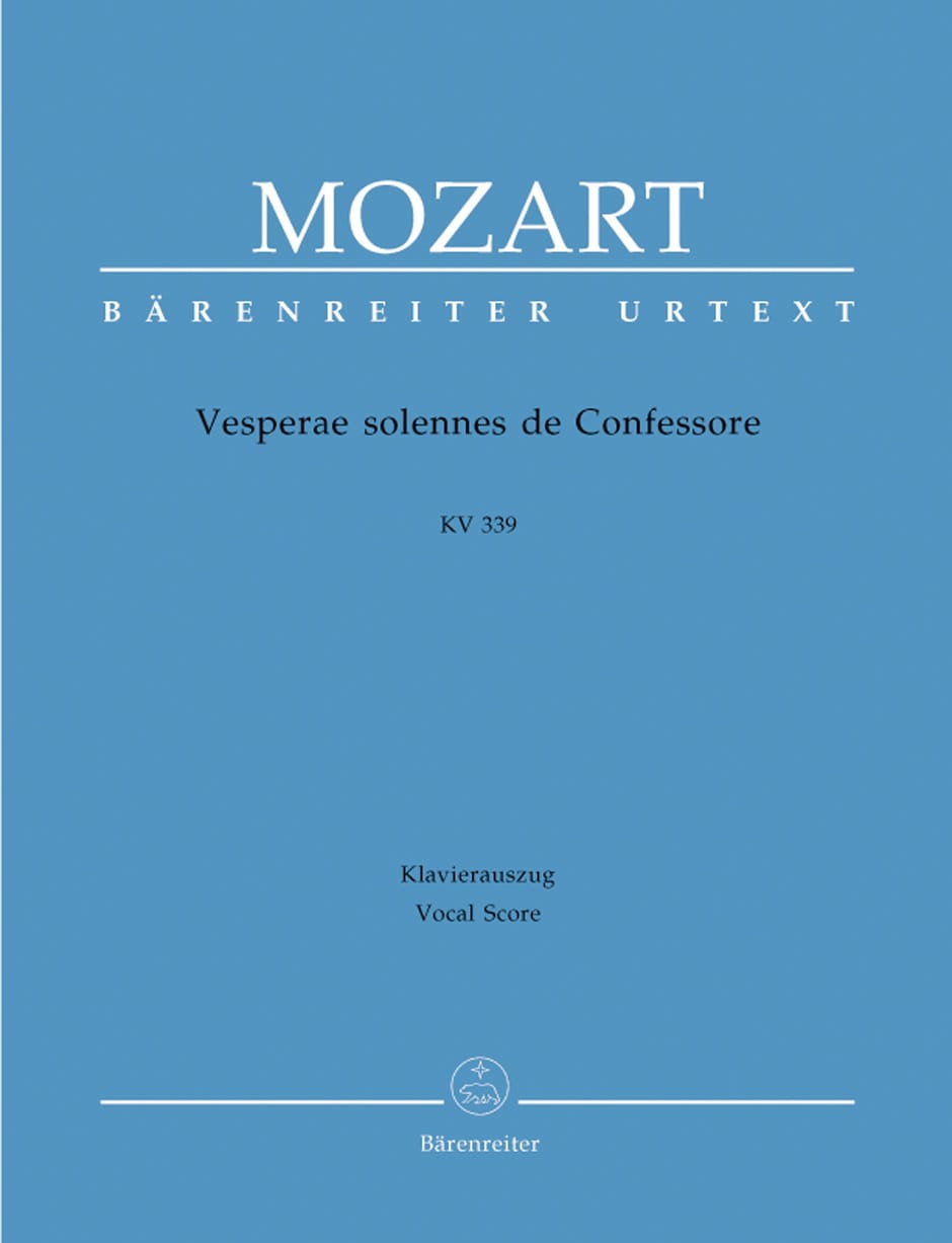MOZART - Solemn Vespers of a Confessor - Partition - di-arezzo.co.uk