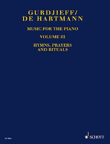 GURDJIEFF / HARTMANN - Music For Piano. Volume 3 - Partition - di-arezzo.co.uk