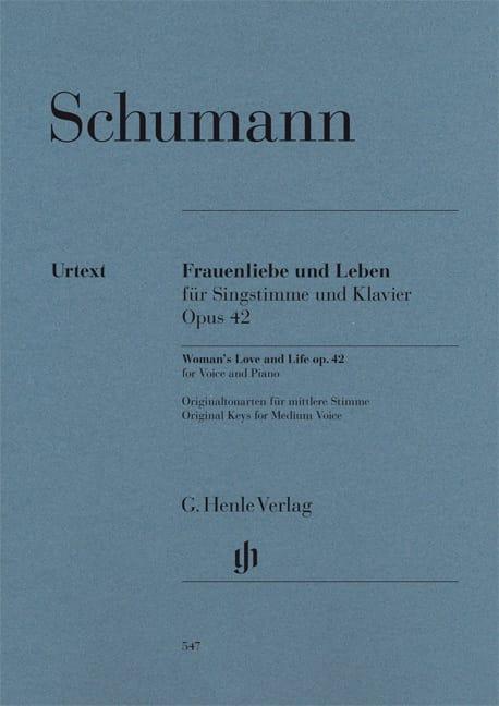 SCHUMANN - Frauenliebe Und Leben Opus 42 - Partition - di-arezzo.co.uk
