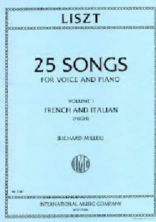 Franz Liszt - 25 Songs Volume 1. High Voice - Partition - di-arezzo.com