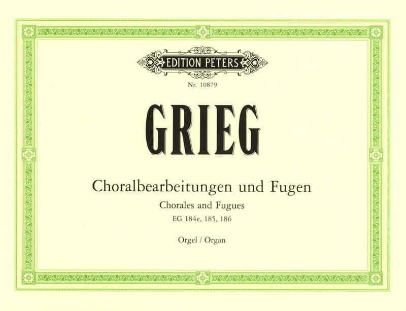 Choralbearteitungen Und Fugen - GRIEG - Partition - laflutedepan.com