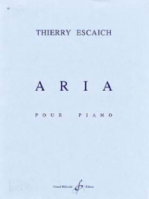 Thierry Escaich - Aria - Partition - di-arezzo.co.uk