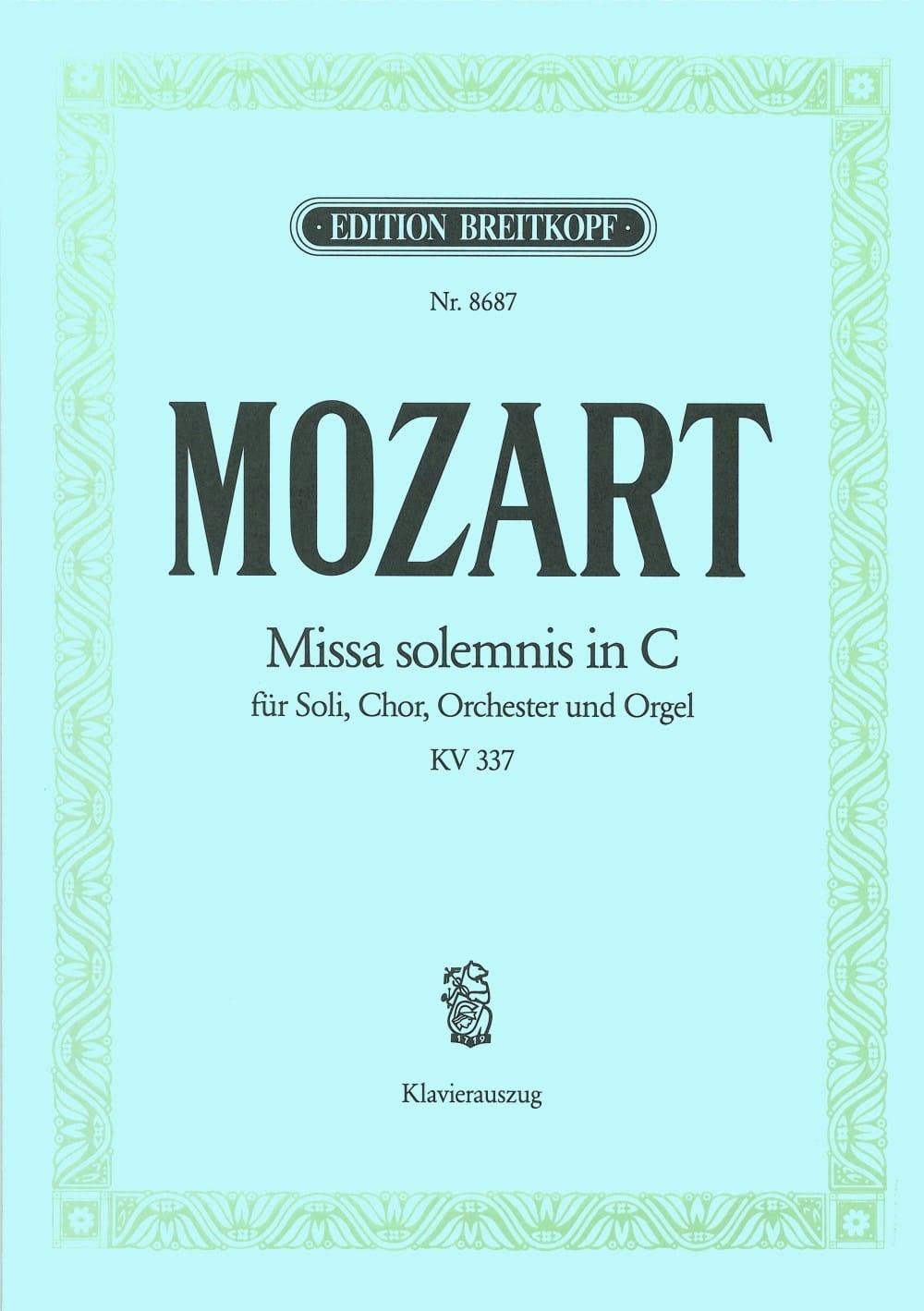 Missa Solemnis KV 337 - Messe solennelle en DO Majeur - laflutedepan.com