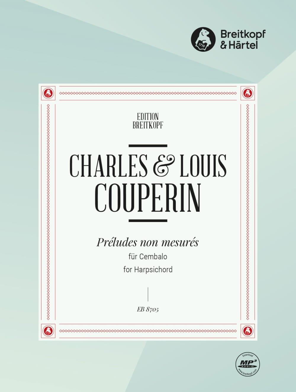 Préludes Non Mesurés - Louis Couperin - Partition - laflutedepan.com