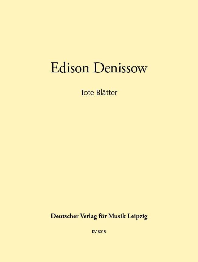 Tote Blätter - Edison Denisov - Partition - laflutedepan.com