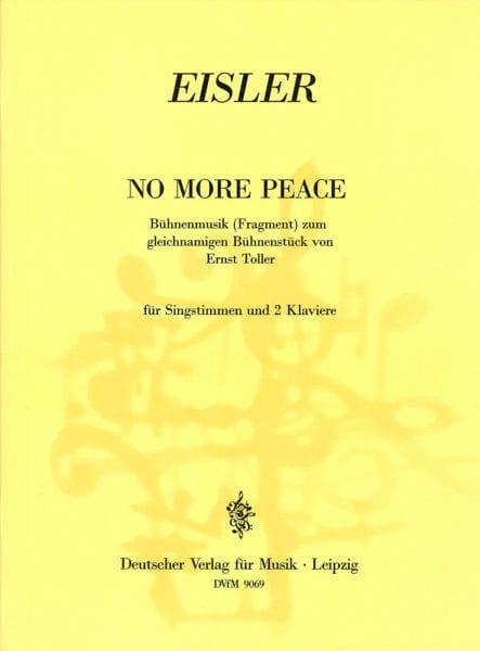 No More Peace - Hanns Eisler - Partition - Mélodies - laflutedepan.com