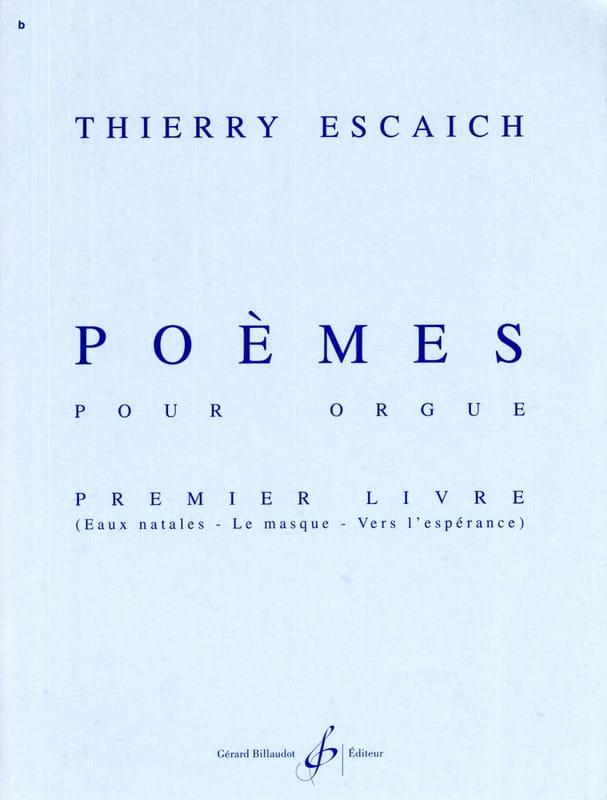 Thierry Escaich - Poems Book 1 - Partition - di-arezzo.co.uk