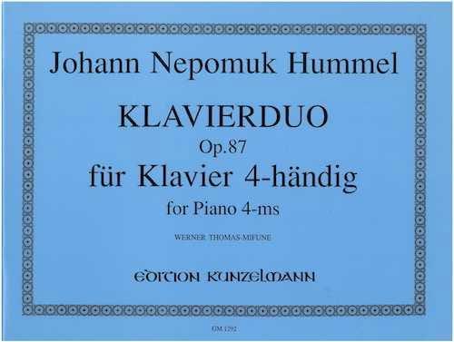 Klavierduo Op. 87 - HUMMEL - Partition - Piano - laflutedepan.com