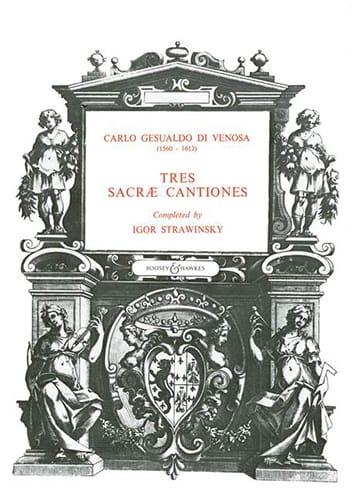 3 sacrae cantiones - Gesualdo di Venosa, Carlo - laflutedepan.com