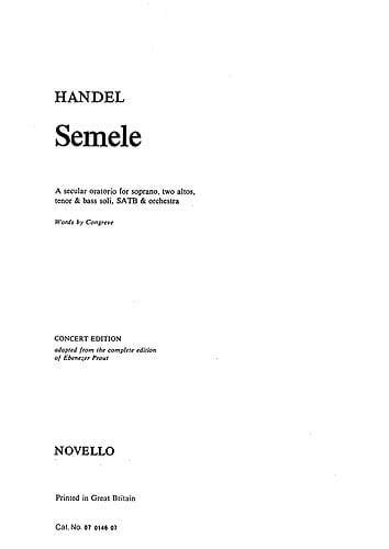 Semele. - HAENDEL - Partition - Chœur - laflutedepan.com