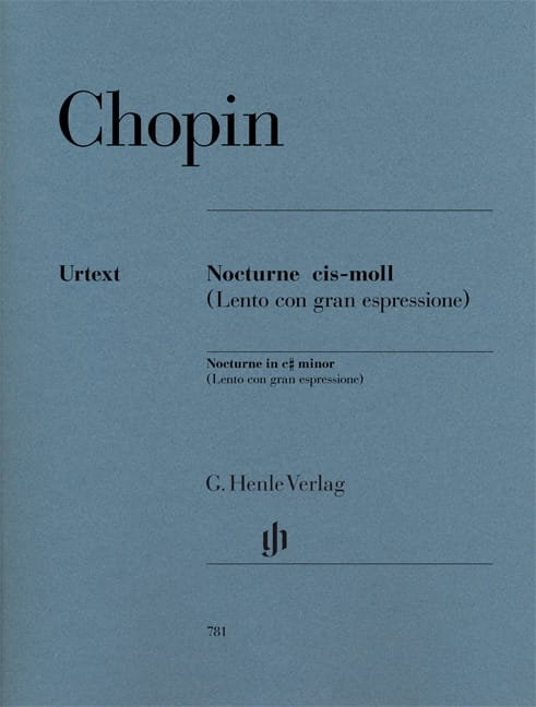 CHOPIN - Nocturne In C sharp Minor Opus póstumo - Partition - di-arezzo.es