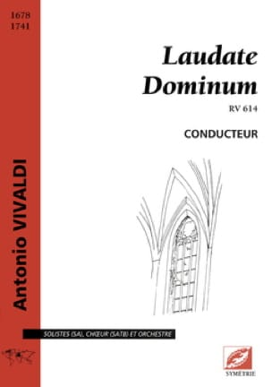 Laudate Dominum RV 614 - VIVALDI - Partition - laflutedepan.com