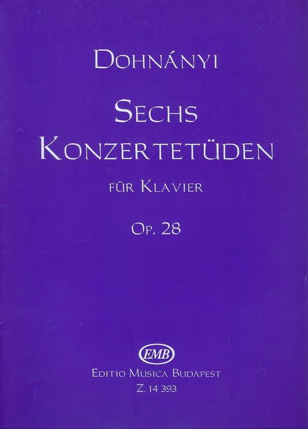 6 Konzertetuden Opus 28 - DONHANYI - Partition - laflutedepan.com
