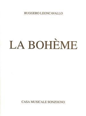 Ruggiero Leoncavallo - Bohemian - Partition - di-arezzo.co.uk