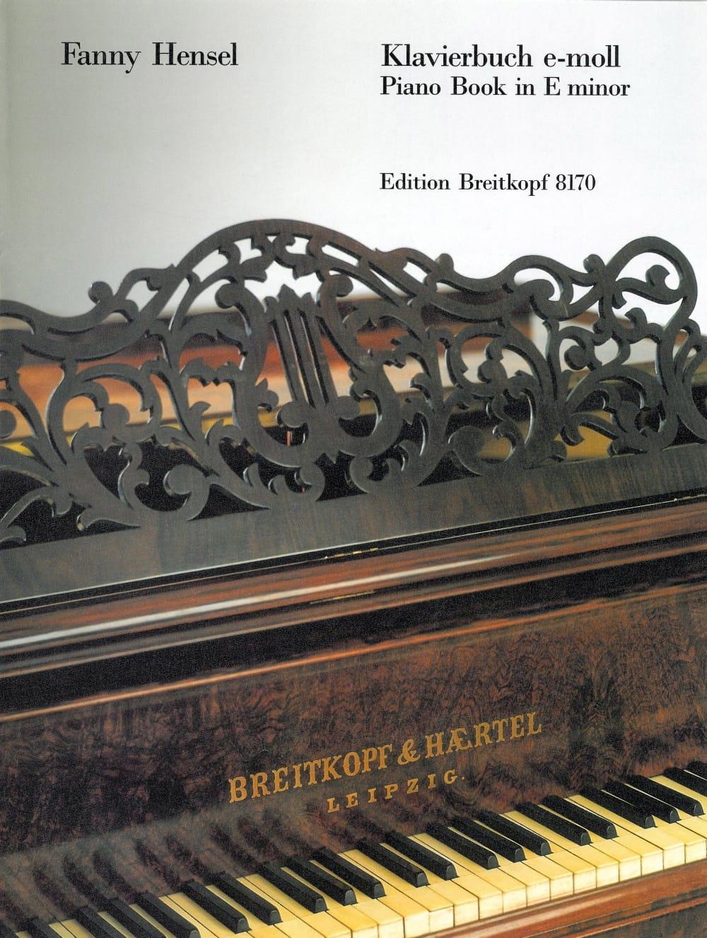 Klavierbuch En Mi Mineur - Fanny Hensel-Mendelssohn - laflutedepan.com