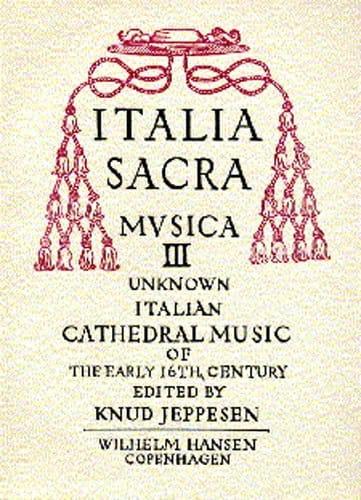 Italia Sacra Musica Volume 3 - Partition - laflutedepan.com