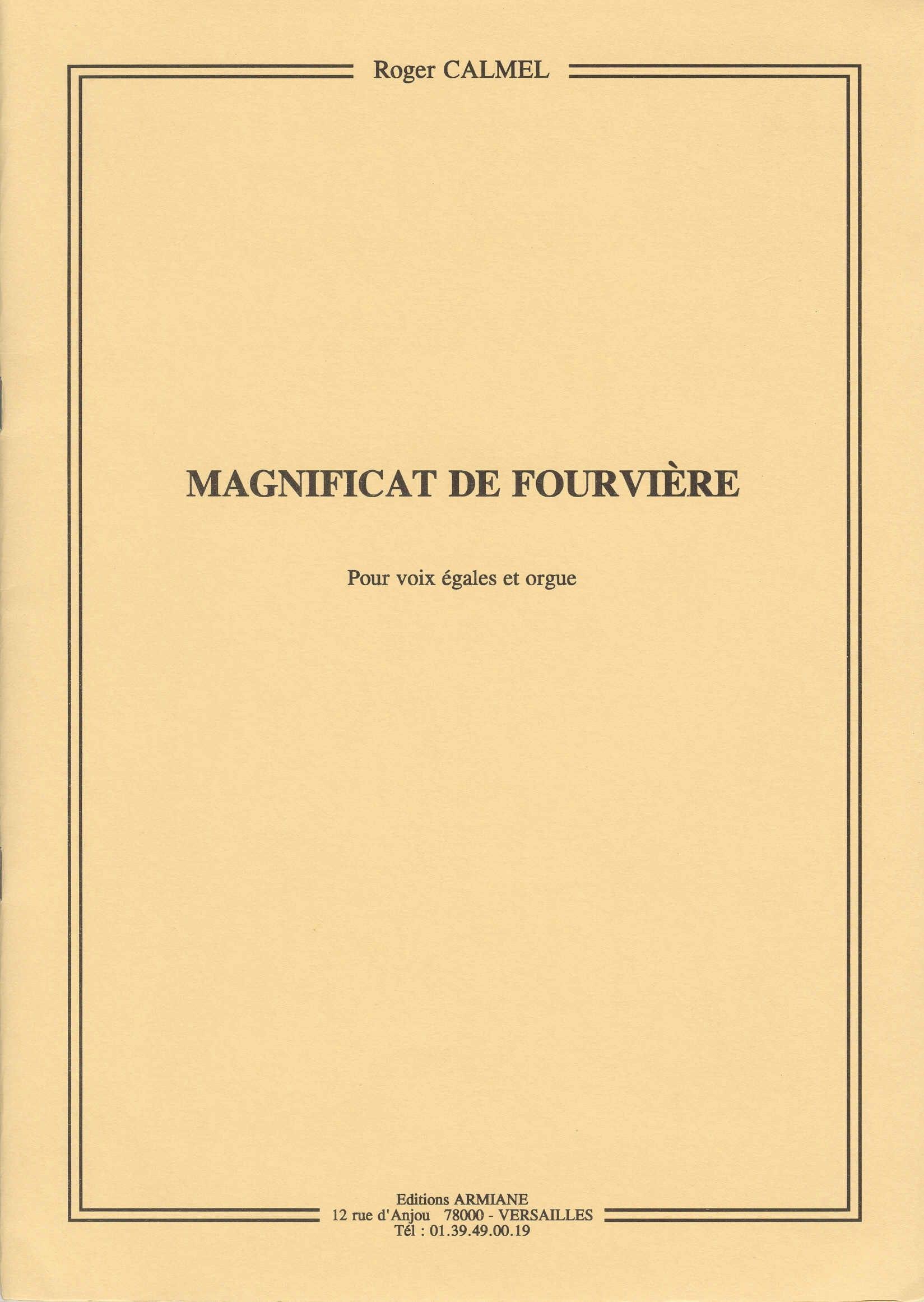 Magnificat de Fourvière - Roger Calmel - Partition - laflutedepan.com