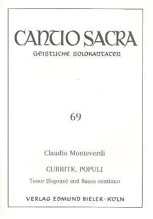 Claudio Monteverdi - Currite Populi - Partition - di-arezzo.co.uk